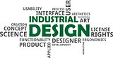 word cloud - industrial design
