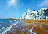 Xi Beach sunshiny view (Greece, Kefalonia).