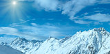 Silvretta Alps winter sunshiny view (Austria). Panorama.