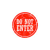 Do not enter grungy stamp isolated on white background