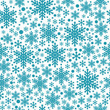 Large and small blue snowflake seamless