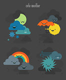 Cute weather characters collection, set 2