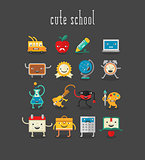 Education and school cute objects