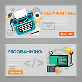 Programming and Copywriting Concept Banners
