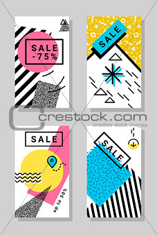 Abstract vector geometric design backgrounds pack