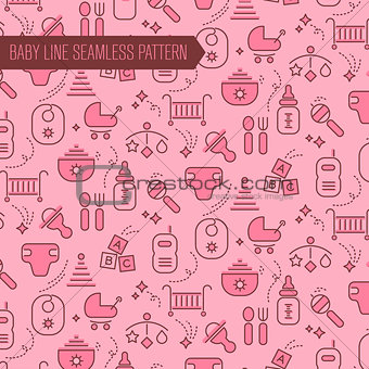 Baby Seamless Pattern Backgound