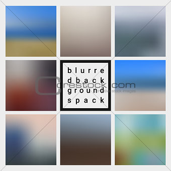Abstract vector blurred design backgrounds pack