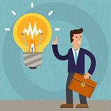 New idea vector cartoon illustration