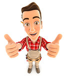 3d handyman thumbs up
