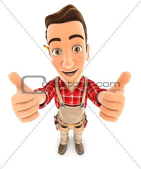 3d handyman thumbs up