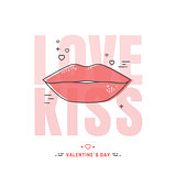 Line lips illustration