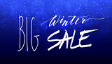 Big Winter Sale Hand Lettering Inscription