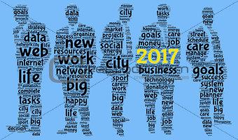 Business 2017 word cloud concept