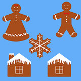 Gingerbread man cookie set
