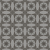 Grey Ornamental Seamless Line Pattern
