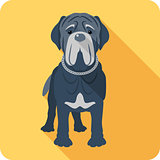 dog Neapolitan Mastiff icon flat design