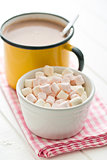 mini marshmallows and cocoa drink
