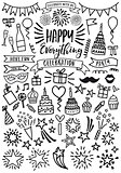 Celebration, party, vector set
