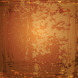Vector Grunge Background. Brown abstract vintage texture.