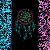 Indian Dream catcher, black background