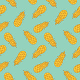 Modern stylized pineaples seamless pattern