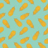 Modern stylized pineaples seamless pattern