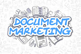 Document Marketing - Doodle Blue Word. Business Concept.