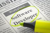 Software Developer Join Our Team. 3D.