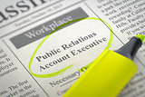 Now Hiring Public Relations Account Executive. 3D.