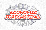 Economic Forecasting - Cartoon Red Word. Business Concept.