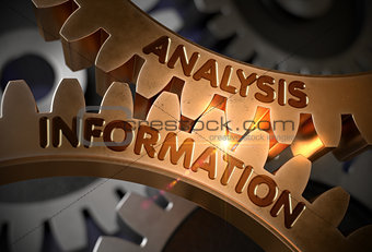 Analysis Information on Golden Cog Gears. 3D Illustration.