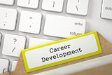 File Card with Career Development. 3D.