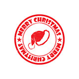 MERRY CHRISTMAS stamp sign