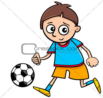 boy playing ball cartoon