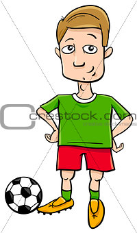 football player character cartoon