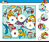 match pieces game with fish