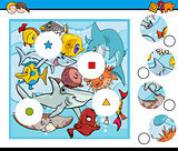 sea life match pieces game