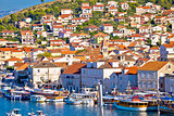 Town of Trogir seafront view