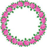 Roses round frame