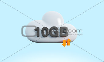 3d rendering cloud download upload sync