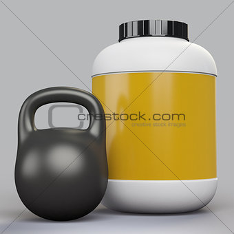 blank supplement bottle and kettlebell template
