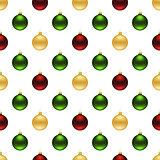 Seamless christmas balls