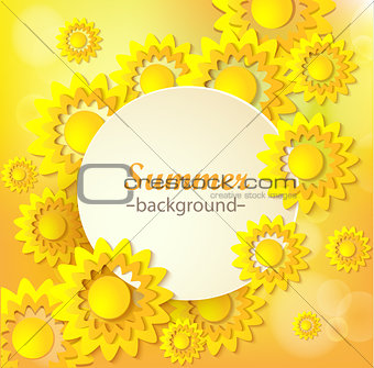 Abstract yellow Floral Greeting card.