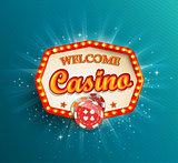 Shining retro light frame Casino.
