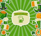 St Patrick's card.