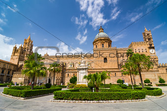 Palermo Cathedral in Palermo, Sicily, Italy.