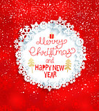 Christmas and New Year Greeting Card, vector.