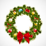 Abstract Beauty Christmas and New Year Background with Wreath. V