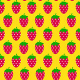 Simple Strawberry Seamless Pattern Background Vector Illustratio