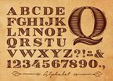 Vintage alphabet kraft